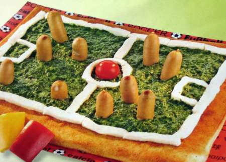 Fussball-Pizza