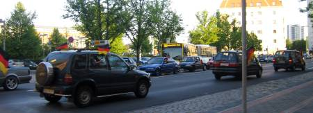 Deutschlandspiel Autokorso