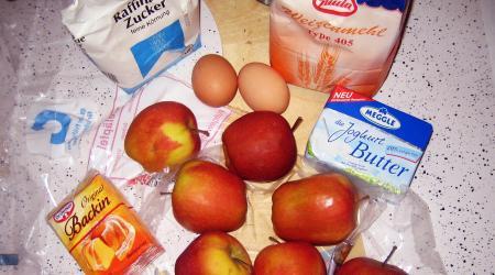 Apfelkuchen selber backen