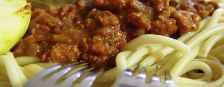 Spaghetti Bolognese mit lecker Hackfleisch