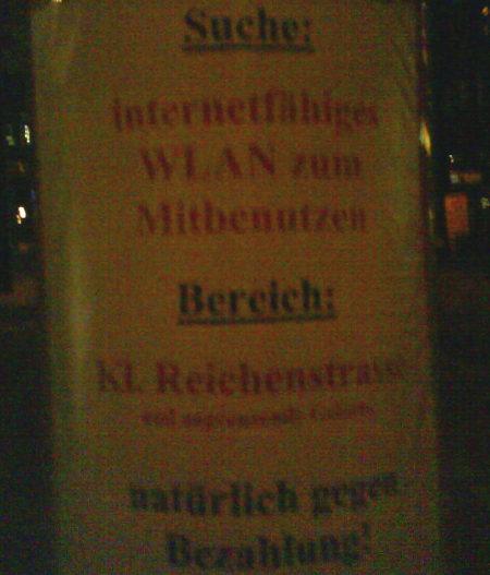 WLAN in Hamburg gesucht