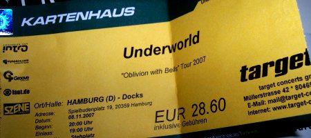 Eintrittskarte Underworld Hamburg