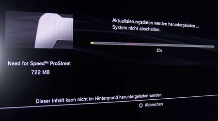 Playstation 3: Update für Need for Street Prostreet