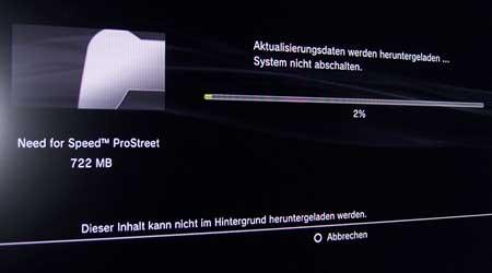 Playstation 3: Update für Need for Street Prostreet