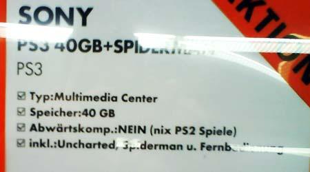 Playstation 3 mit 40 GB - NIX PS2