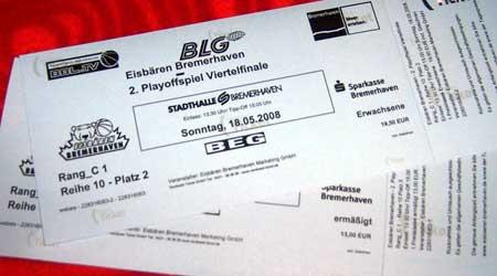 Tickets für die Eisbaren gegen Alba - BBL Playoffs 2008