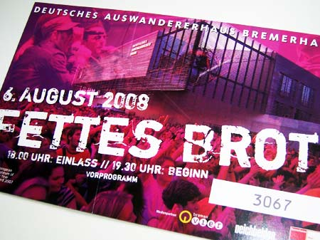 Fettes Brot Ticket