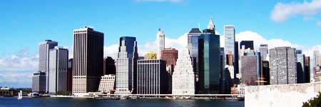 New York Lower Manhatten von Brooklyn Heights aus