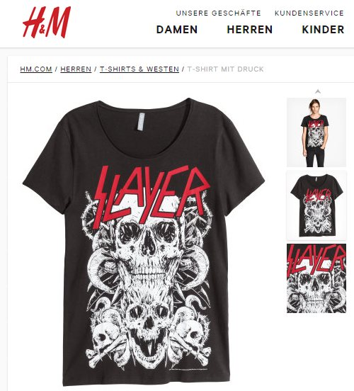 H&M Slayer T-Shirt