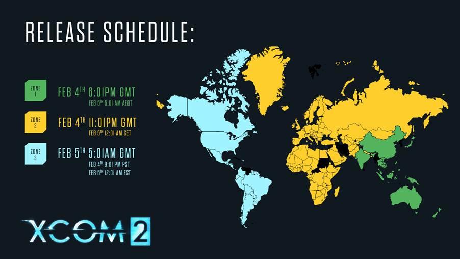 XCOM2 Release Schedule