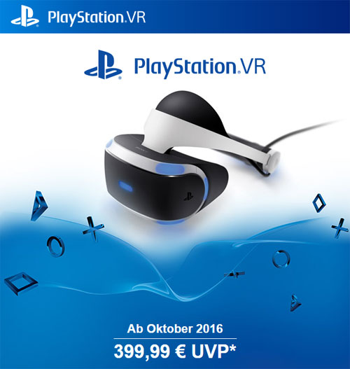 Playstation VR ab Oktober 2016