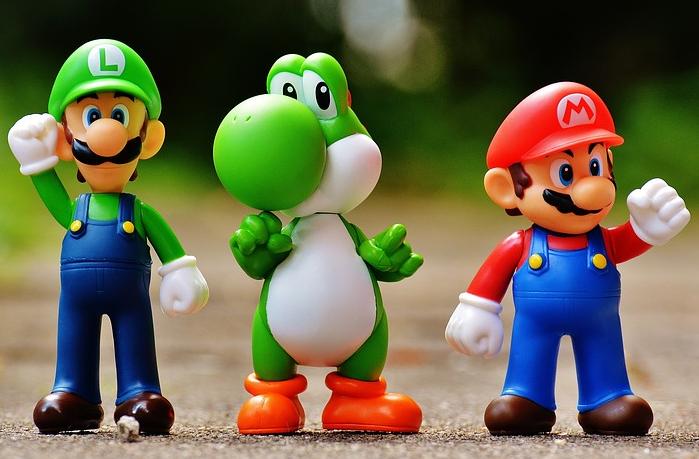 Mario, Yoshi, Luigi